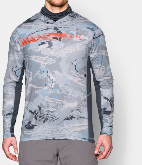 Men 39 s ua ridge reaper hydro ninja hoodie under armour us for Under armor fishing shirt
