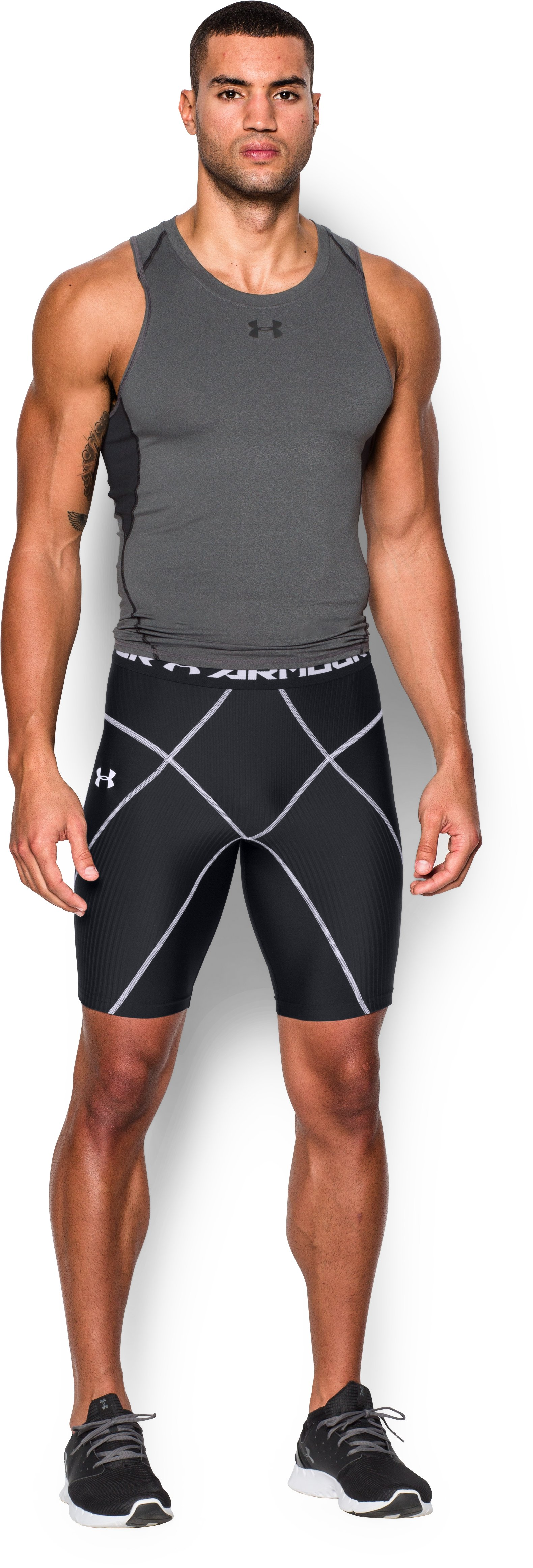 Men's UA HeatGear® Armour Compression Coreshorts, Black