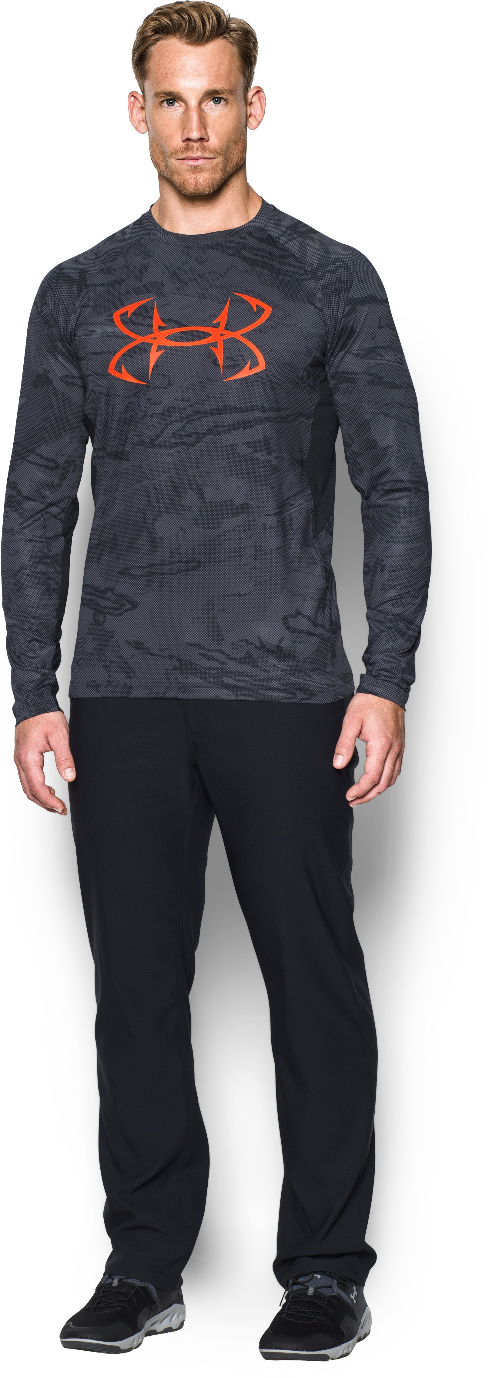 Men's UA CoolSwitch Thermocline Long Sleeve, Black , Front