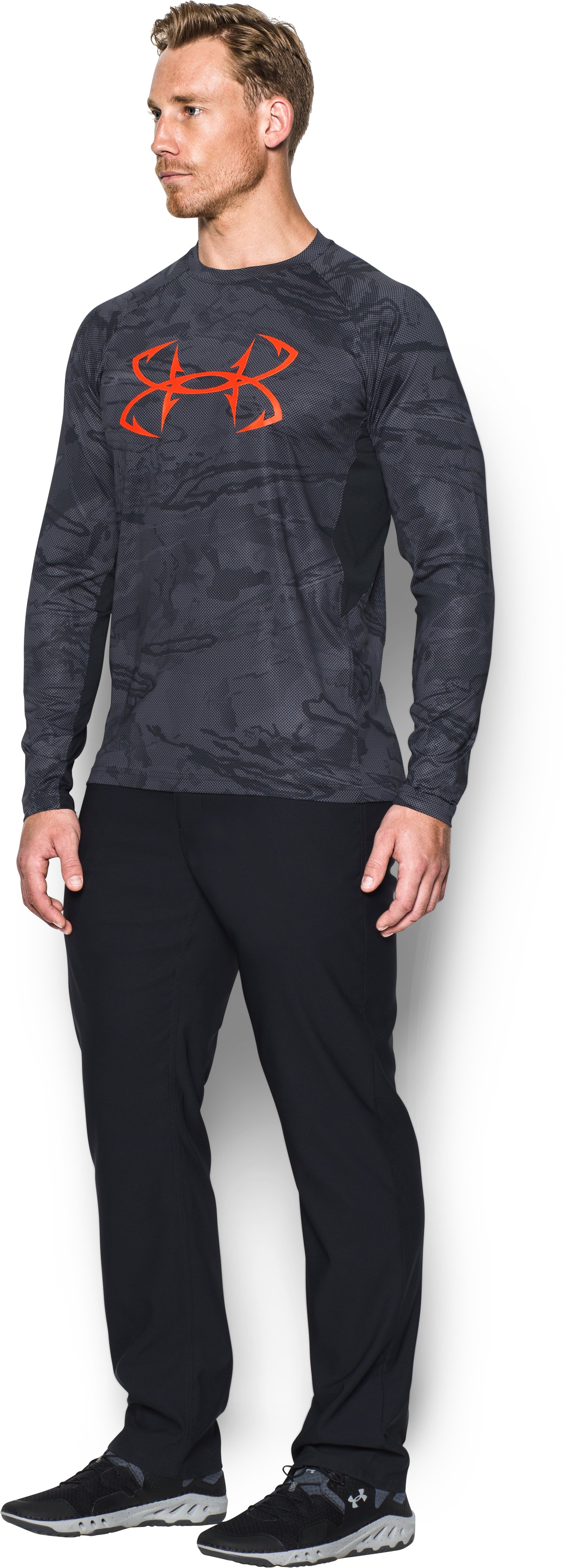 Men's UA CoolSwitch Thermocline Long Sleeve, Black ,