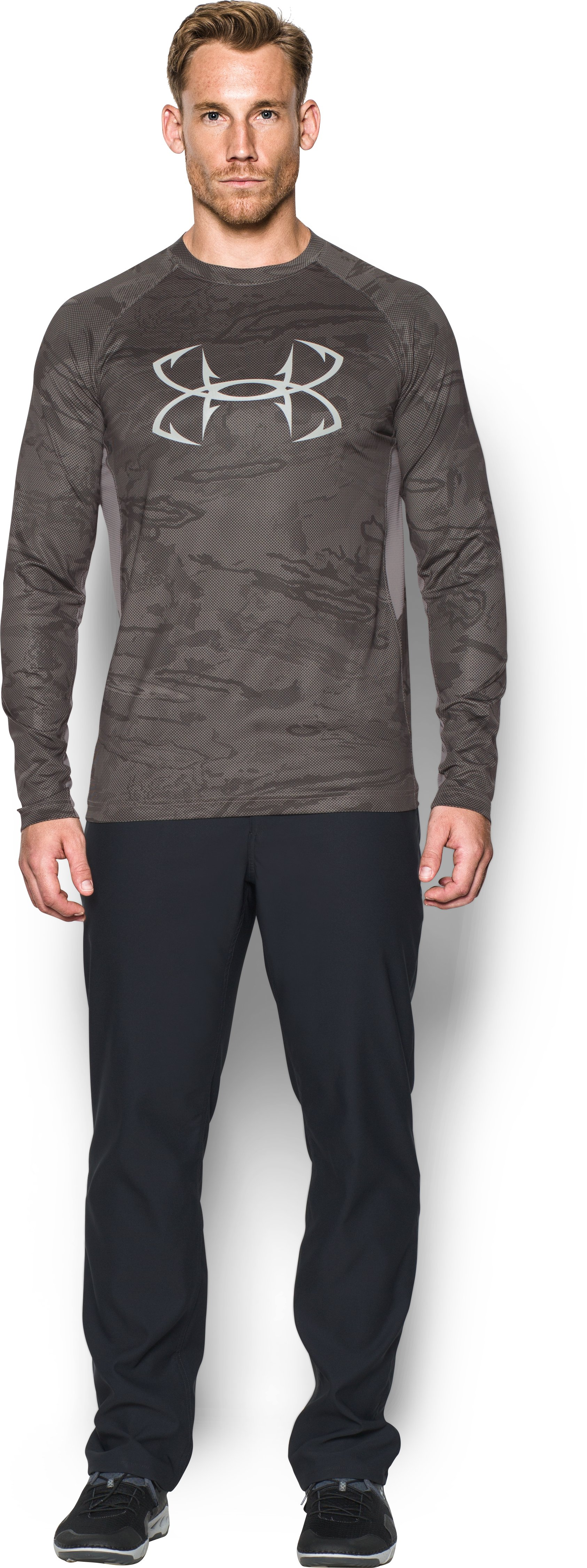 Men's UA CoolSwitch Thermocline Long Sleeve, FRESH CLAY, Front