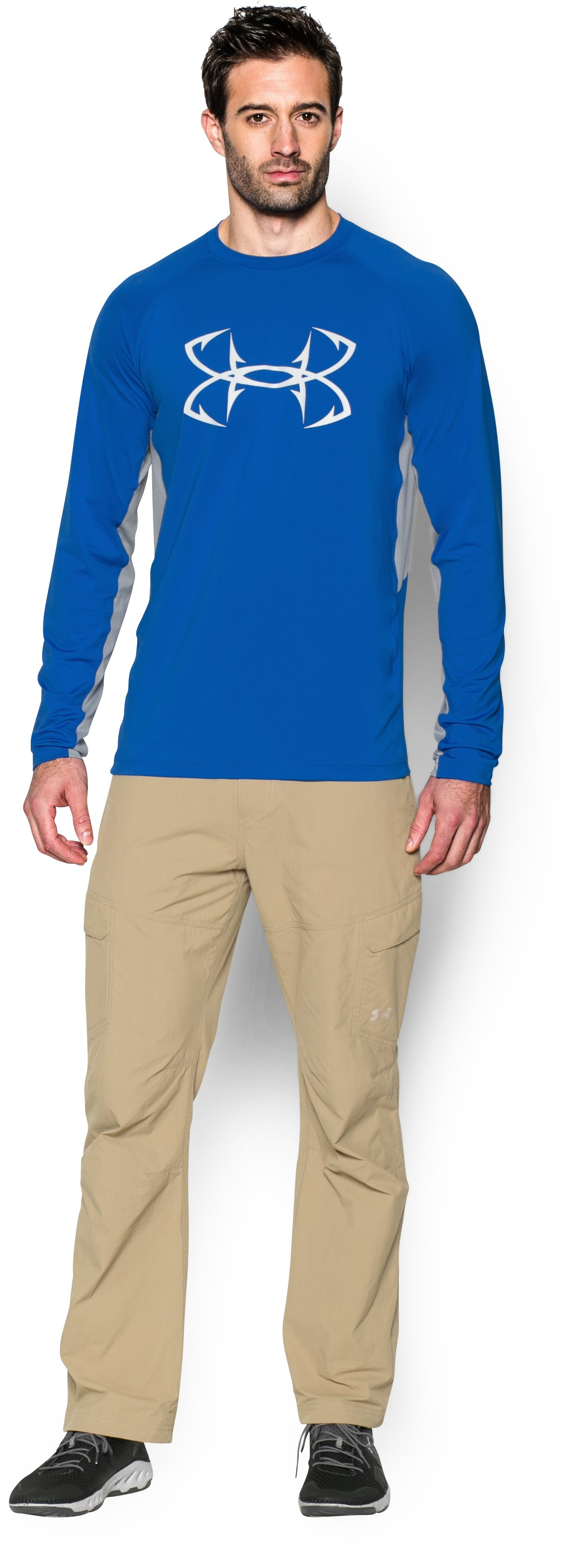 Men's UA CoolSwitch Thermocline Long Sleeve, ULTRA BLUE, Front