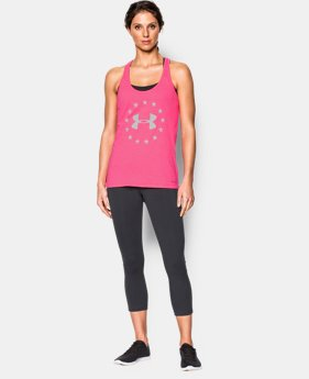 New Arrival Women's UA Charged Cotton® Tri-Blend Freedom Tank  1 Color $22.99 to $29.99