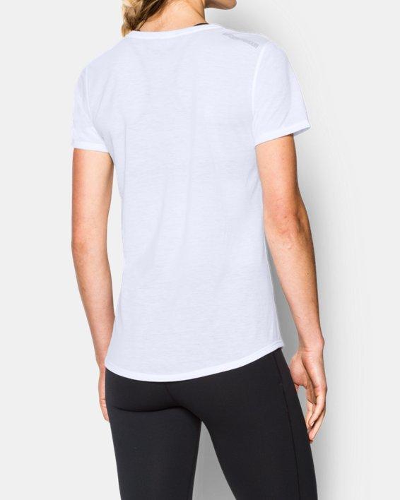 Women's UA Streaker Short Sleeve, White, pdpMainDesktop image number 2