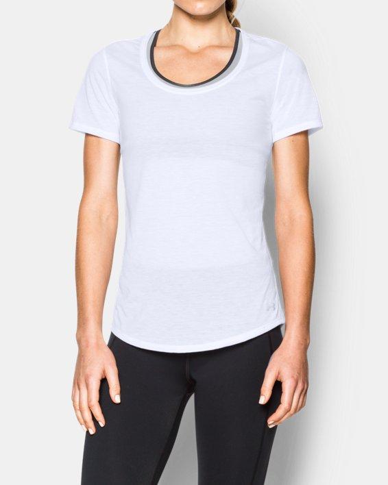 Women's UA Streaker Short Sleeve, White, pdpMainDesktop image number 0