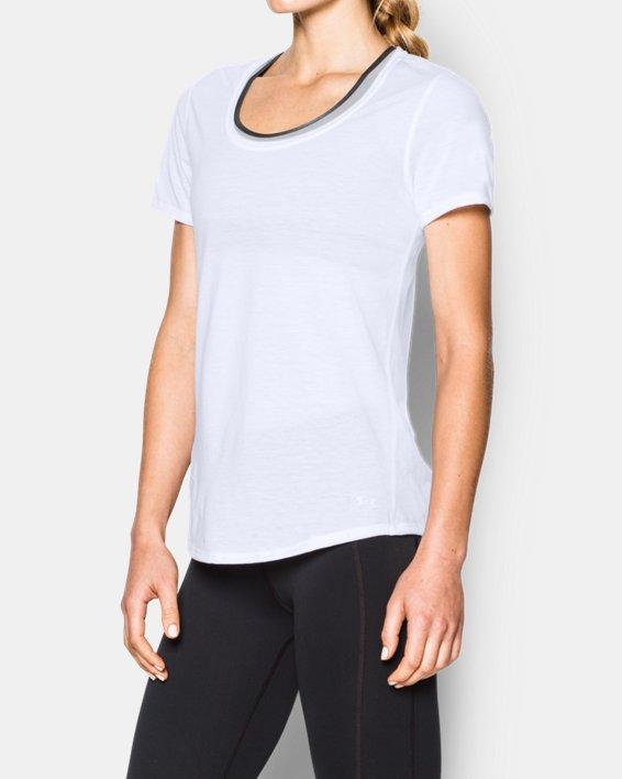 Women's UA Streaker Short Sleeve, White, pdpMainDesktop image number 1
