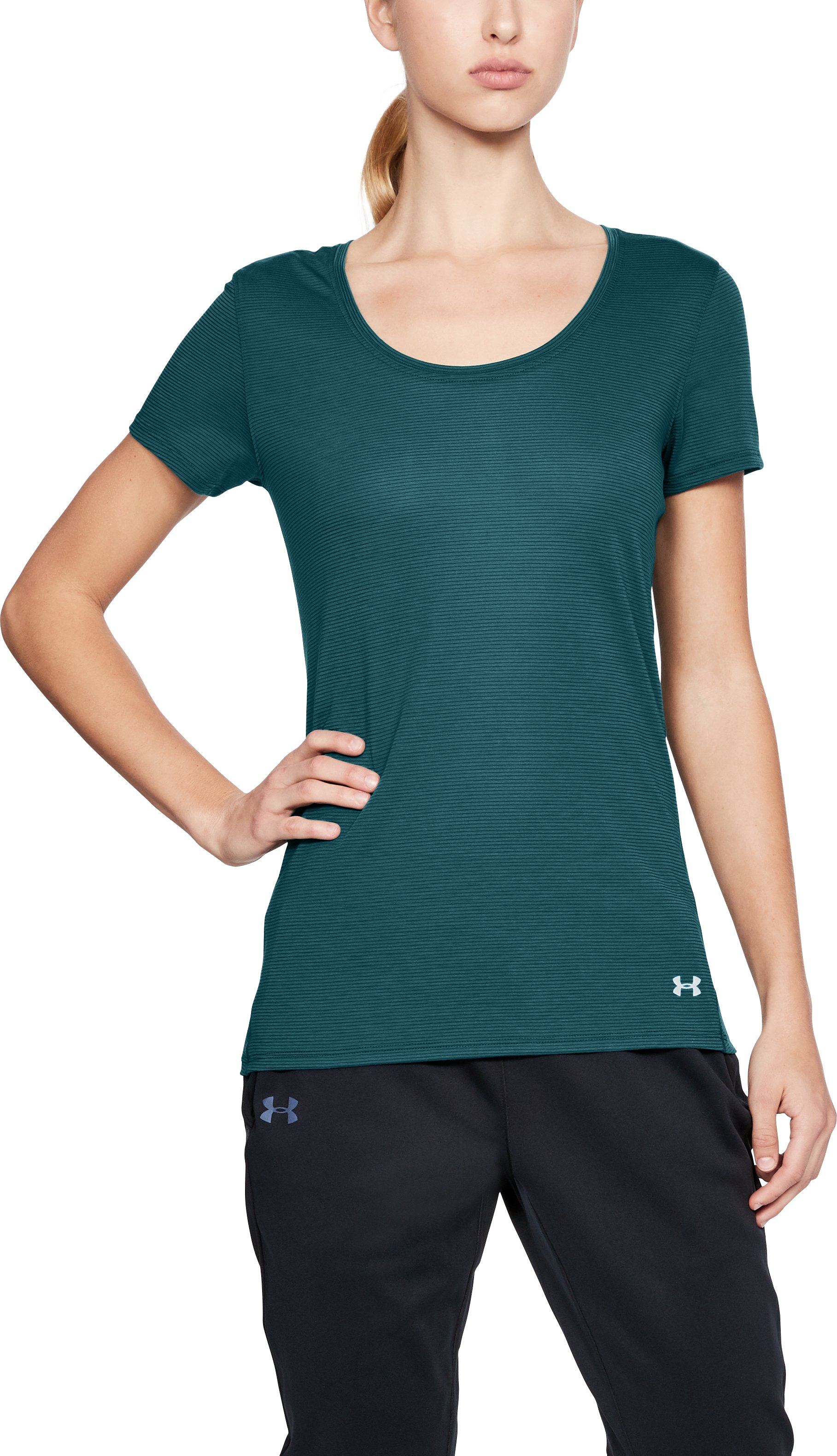 Women's UA Streaker Short Sleeve, TOURMALINE TEAL, undefined