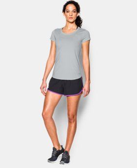 New to Outlet Women's UA Fly-By 2.0 Tee  4 Colors $26.99