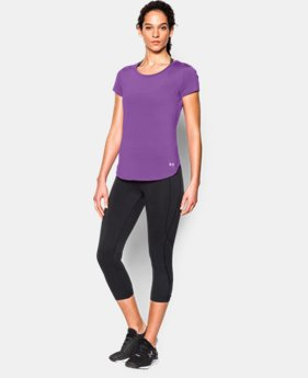 New to Outlet Women's UA Fly-By 2.0 Tee  1 Color $26.99