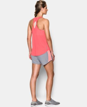 Best Seller Women's UA Fly-By 2.0 Solid Tank LIMITED TIME: FREE SHIPPING 2 Colors $34.99