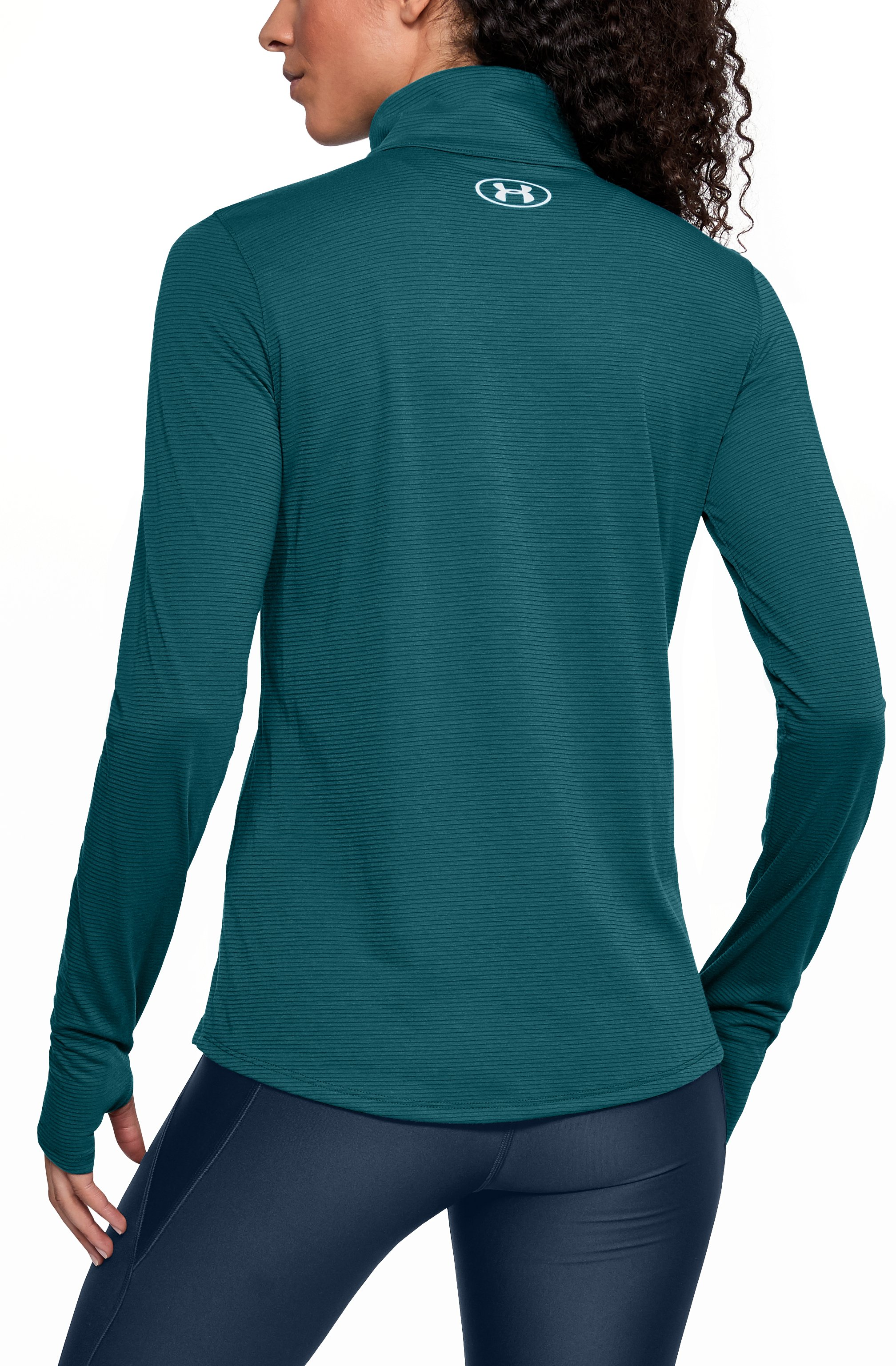 Women's UA Streaker 1/2 Zip, TOURMALINE TEAL, undefined