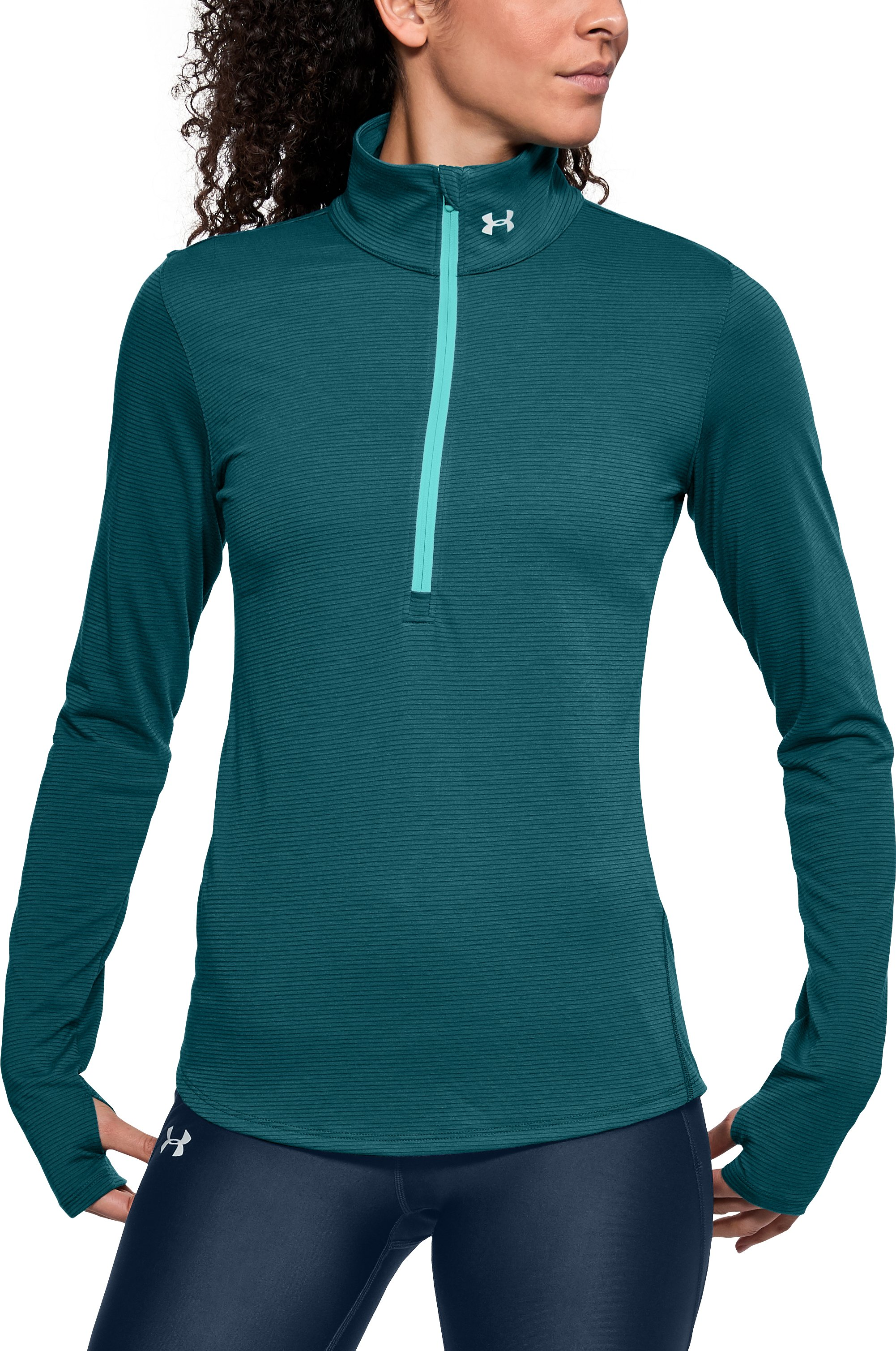 Women's UA Streaker 1/2 Zip, TOURMALINE TEAL