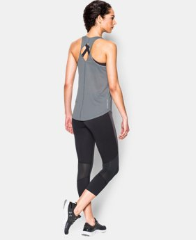 New to Outlet Women's UA Fly-By Printed 2.0 Tank  1 Color $29.99