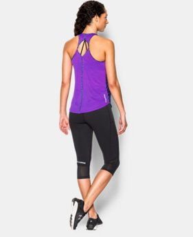 New to Outlet Women's UA Fly-By Printed 2.0 Tank  4 Colors $29.99