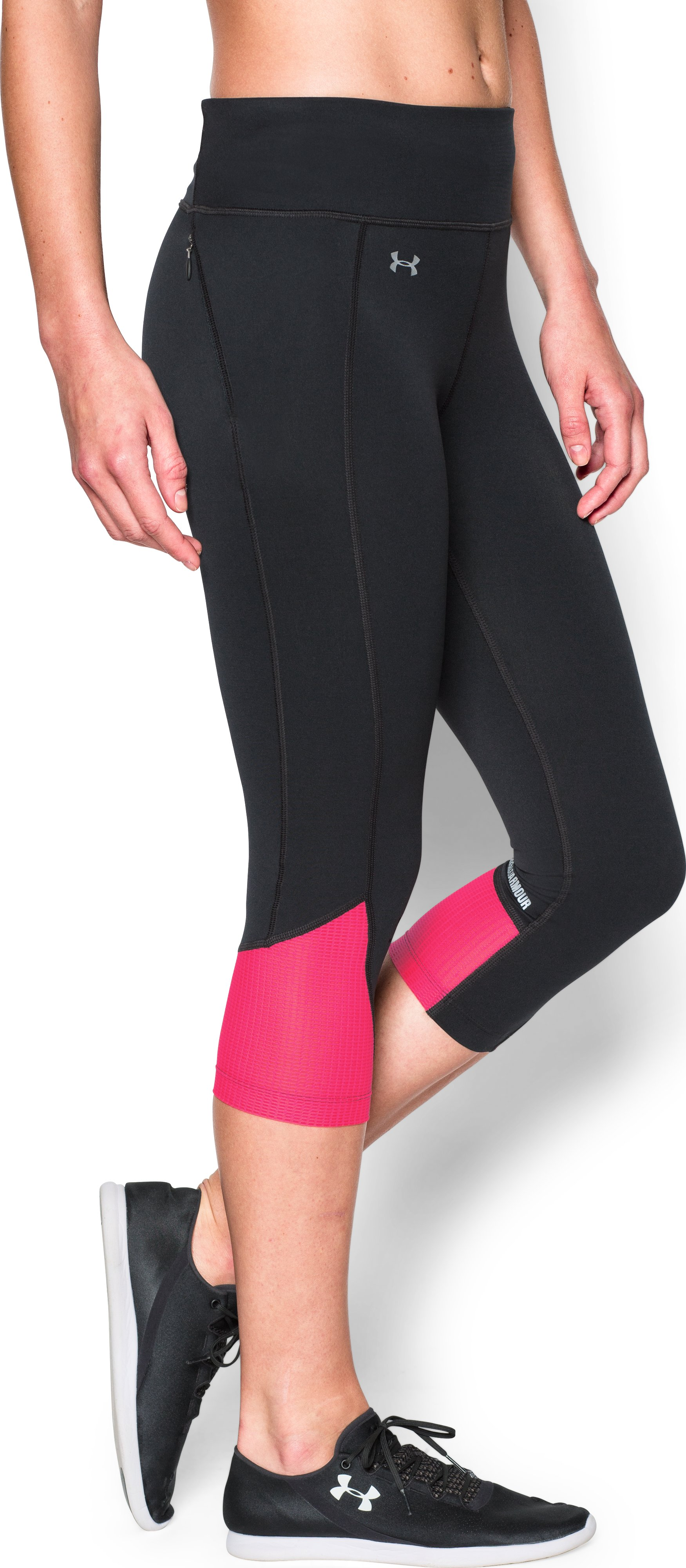Women's UA Fly-By Run Capris, Black