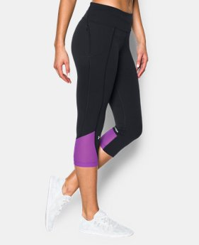 New to Outlet Women's UA Fly-By Run Capri  3 Colors $37.99