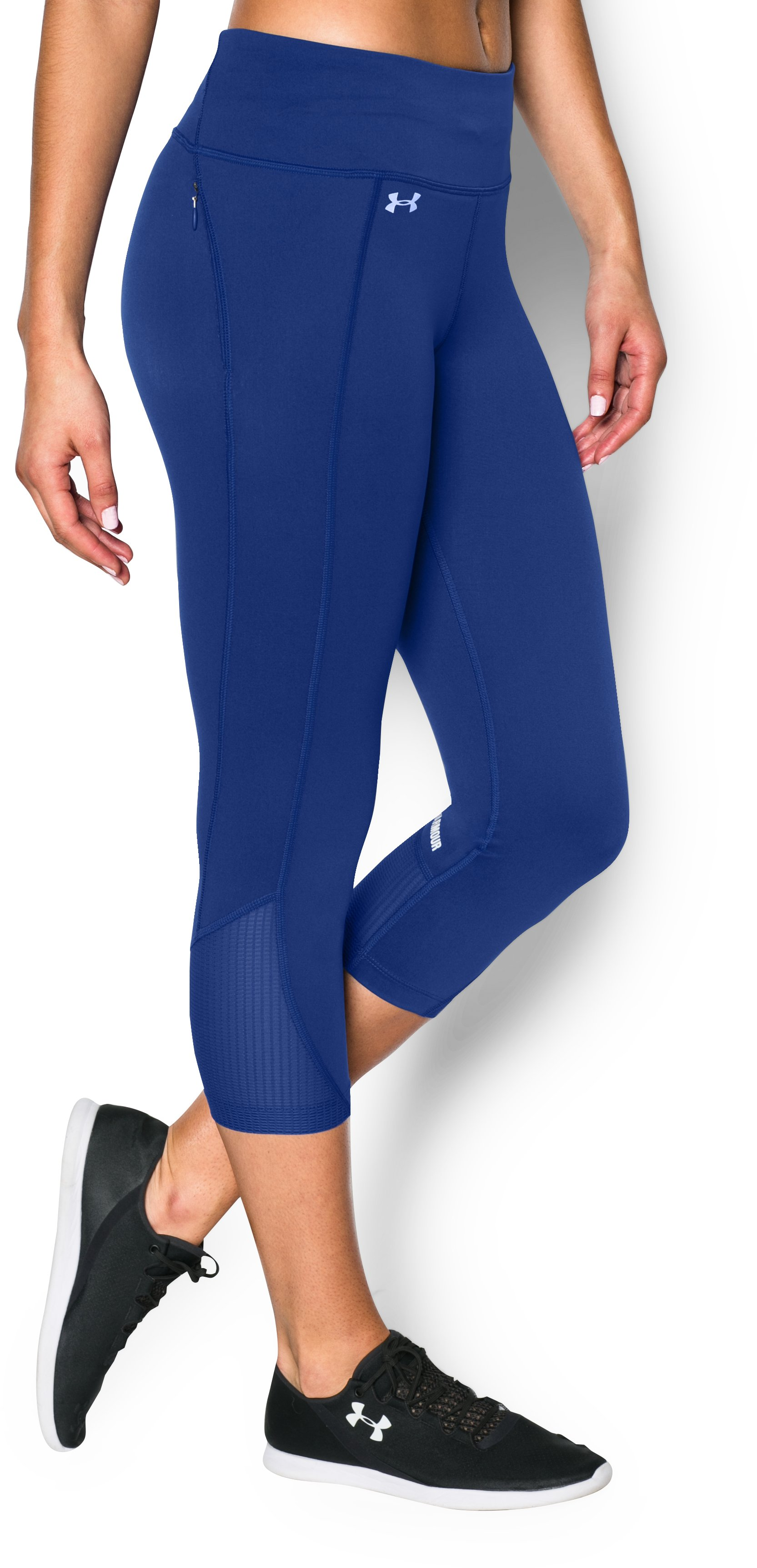 Women's UA Fly-By Run Capri, COBALT, zoomed image