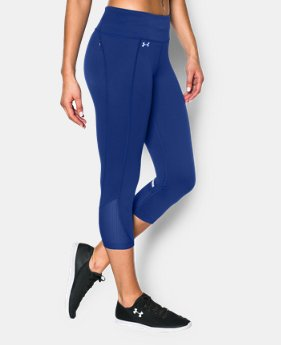 New to Outlet Women's UA Fly-By Run Capri LIMITED TIME: FREE U.S. SHIPPING 4 Colors $28.49 to $37.99