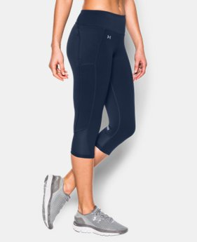 New to Outlet Women's UA Fly-By Run Capri  1 Color $37.99