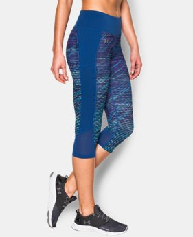 New to Outlet Women's UA Fly-By Printed Run Capri  1 Color $24.74 to $31.49
