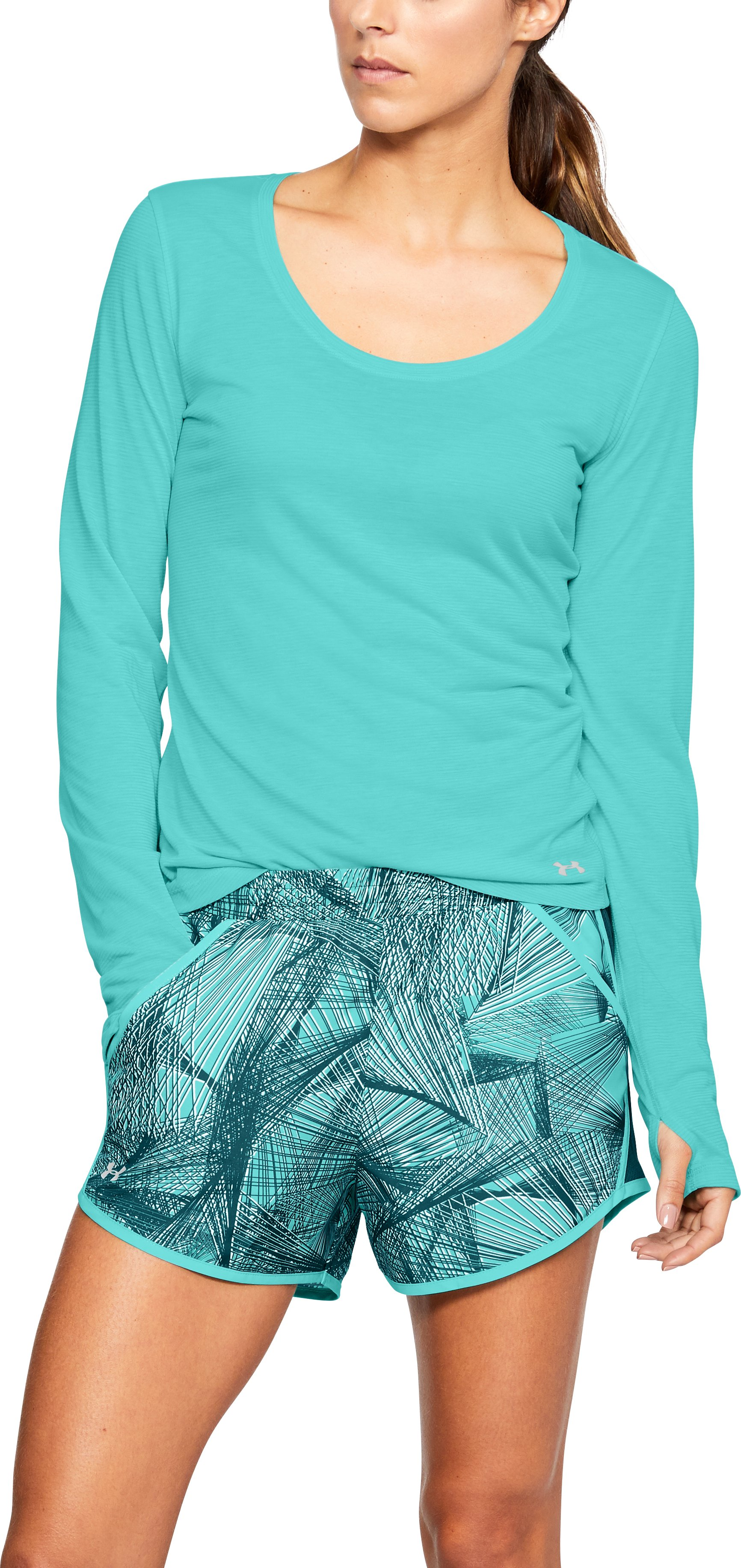 Women's UA Streaker Long Sleeve, TROPICAL TIDE
