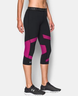 "New to Outlet Women's UA HeatGear® CoolSwitch 15"" Capri LIMITED TIME: FREE U.S. SHIPPING 2 Colors $33.74 to $44.99"