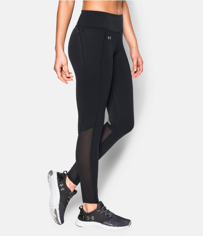 Under Armour HeatGear Fly By Run Leggings - Women's Running - Black/Black/Reflective 97935001