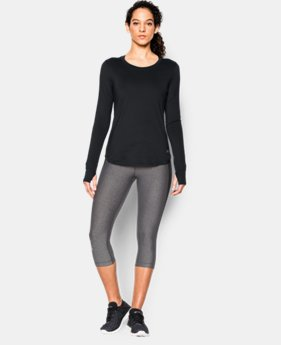Women's UA Fly-By Solid Long Sleeve LIMITED TIME: FREE SHIPPING 1 Color $39.99