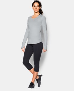 Women's UA Fly-By Solid Long Sleeve   $29.99