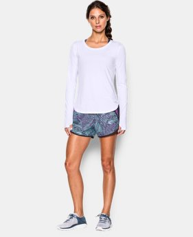 Women's UA Fly-By Solid Long Sleeve LIMITED TIME: FREE SHIPPING 3 Colors $39.99