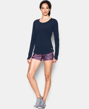 Women's UA Fly-By Solid Long Sleeve  3 Colors $39.99