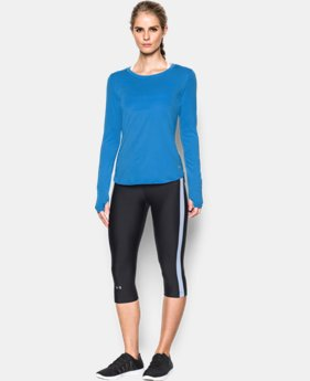 Women's UA Fly-By Solid Long Sleeve LIMITED TIME: FREE SHIPPING 1 Color $54.99