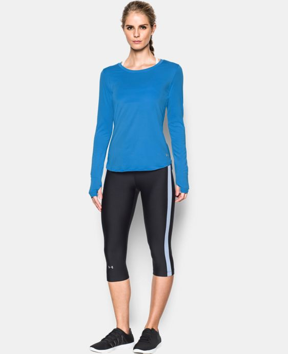 Women's UA Fly-By Solid Long Sleeve LIMITED TIME: FREE SHIPPING 1 Color $29.99 to $41.99
