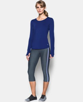 Women's UA Fly-By Solid Long Sleeve LIMITED TIME: FREE U.S. SHIPPING 4 Colors $22.49 to $39.99