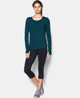 Women's UA Fly-By Solid Long Sleeve LIMITED TIME: FREE U.S. SHIPPING 2 Colors $22.49 to $39.99