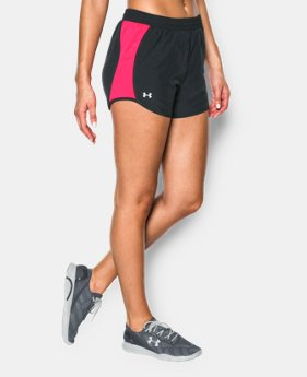 Women's UA Fly-By Run Short  3 Colors $14.99 to $18.99