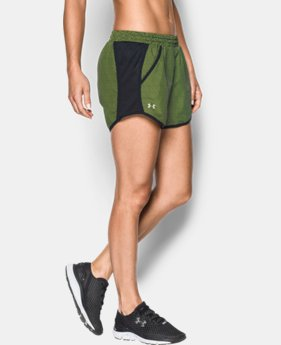 Women's UA Fly-By Printed Run Short  2 Colors $34.99