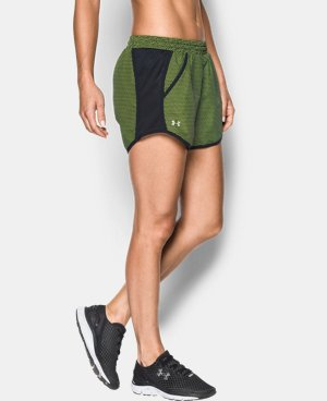 Women's UA Fly-By Printed Run Short   $34.99