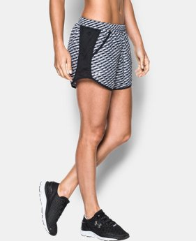 New to Outlet Women's UA Fly-By Printed Run Short LIMITED TIME: FREE U.S. SHIPPING  $13.49 to $22.99