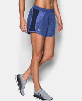 New to Outlet Women's UA Fly-By Printed Run Short LIMITED TIME: FREE U.S. SHIPPING 3 Colors $13.49 to $22.99