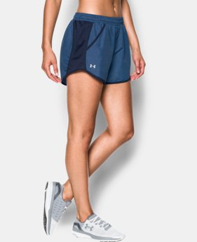 Women's UA Fly-By Printed Run Short  5 Colors $29.99