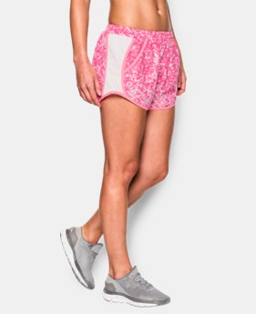 Women's UA Fly-By Printed Run Short