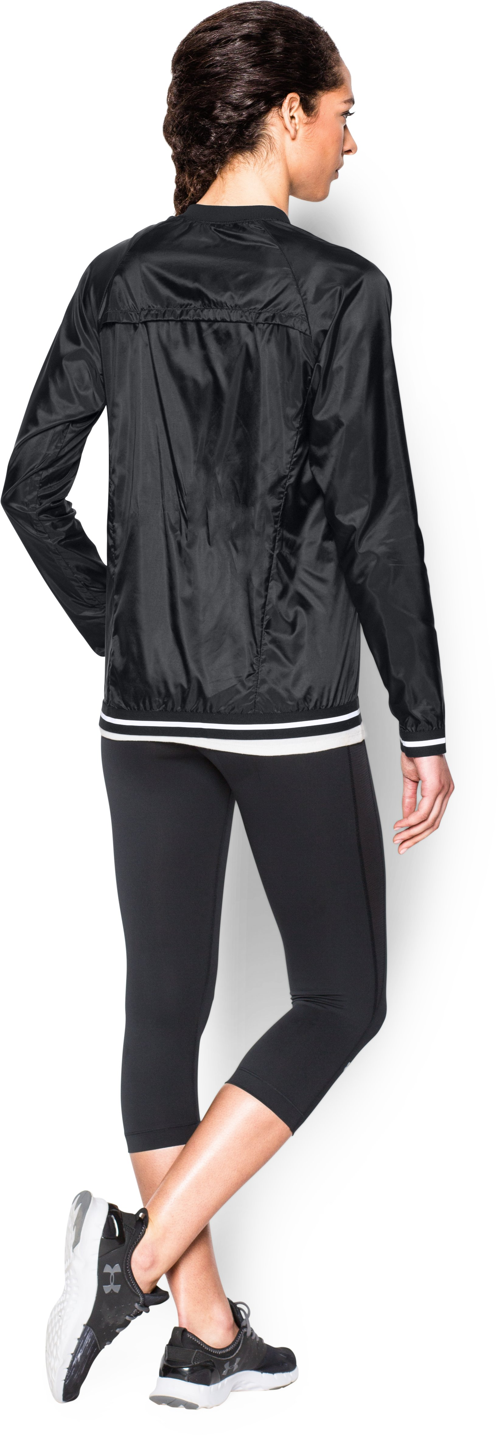 Women's UA Fly-By Jacket, Black , Back