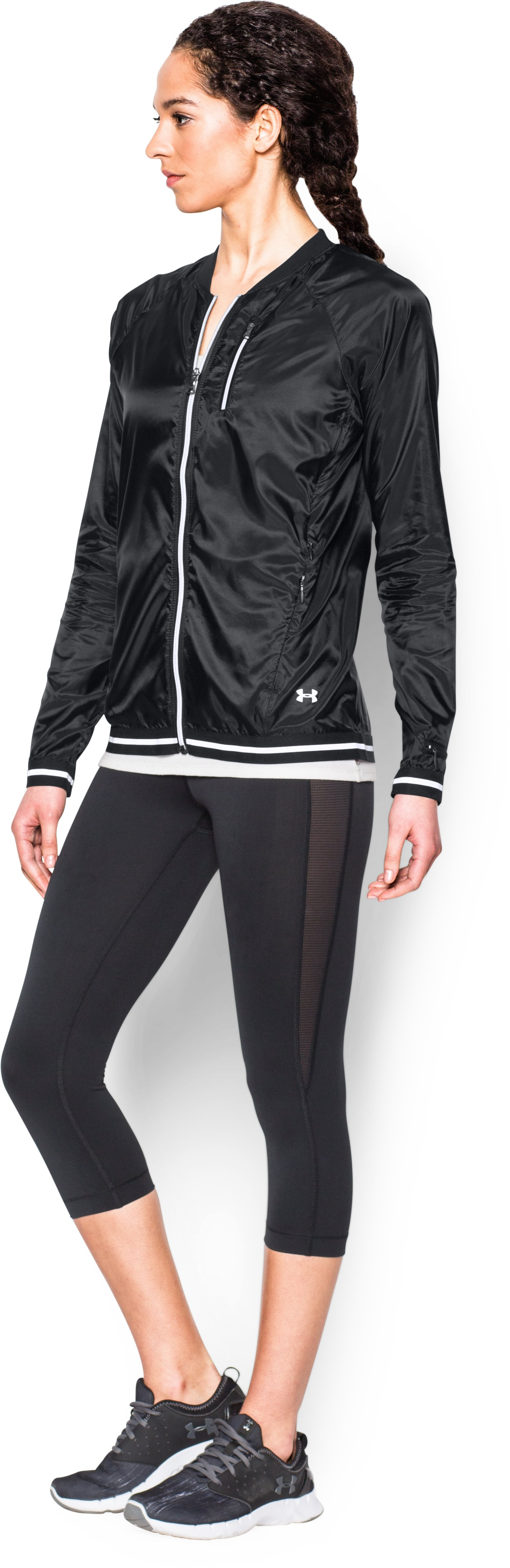 Women's UA Fly-By Jacket, Black , undefined