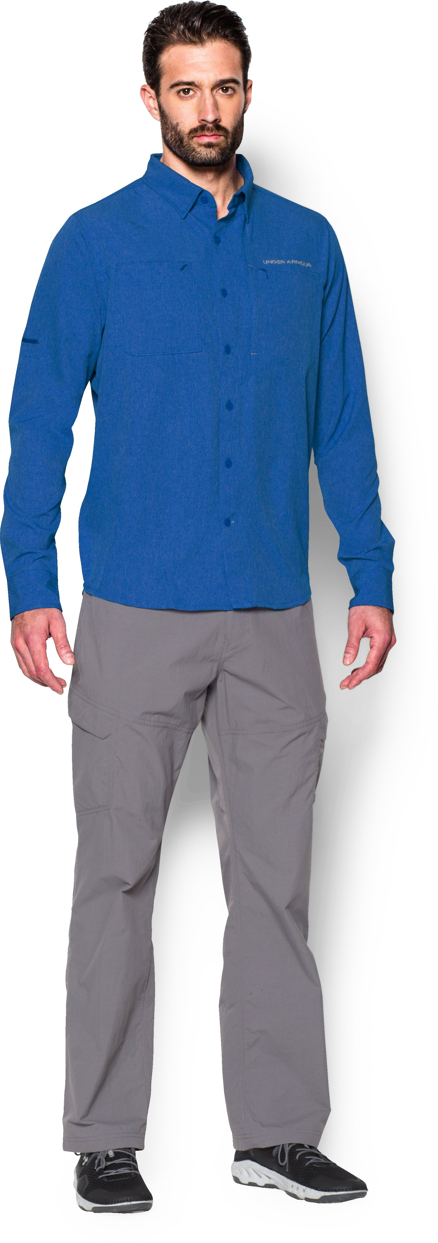 Men's UA ArmourVent™ Long Sleeve Shirt, ULTRA BLUE, zoomed image