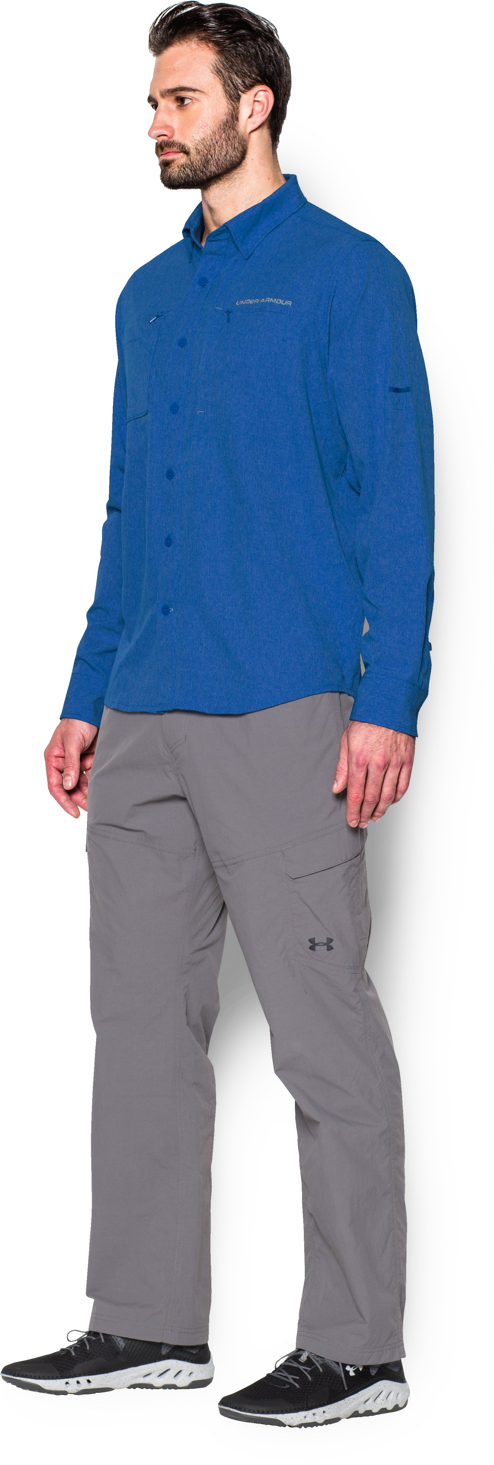 Men's UA ArmourVent™ Long Sleeve Shirt, ULTRA BLUE, undefined