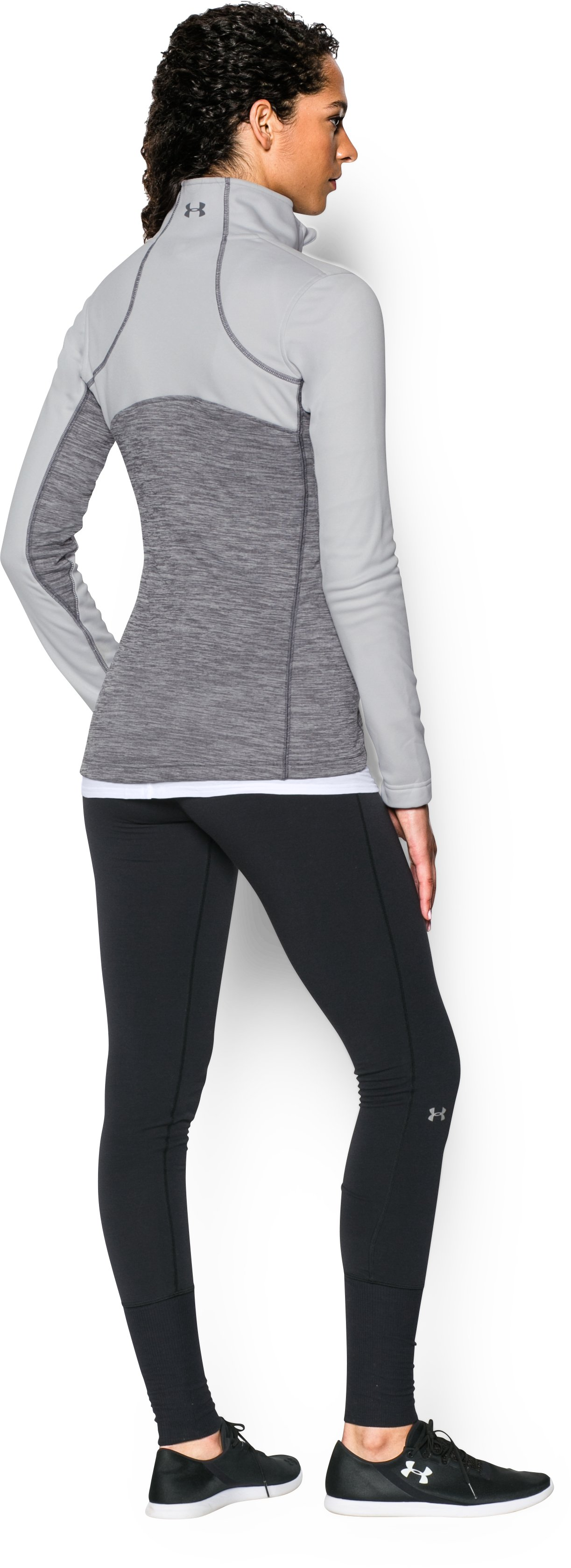 Women's UA Gamutlite 1/2 Zip, GLACIER GRAY, Back