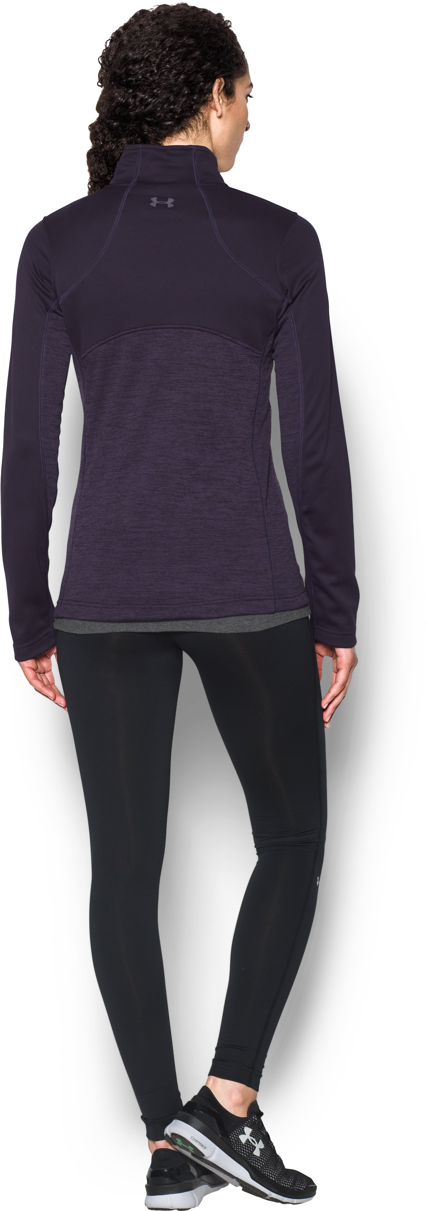 Women's UA Gamutlite 1/2 Zip, IMPERIAL PURPLE, Back
