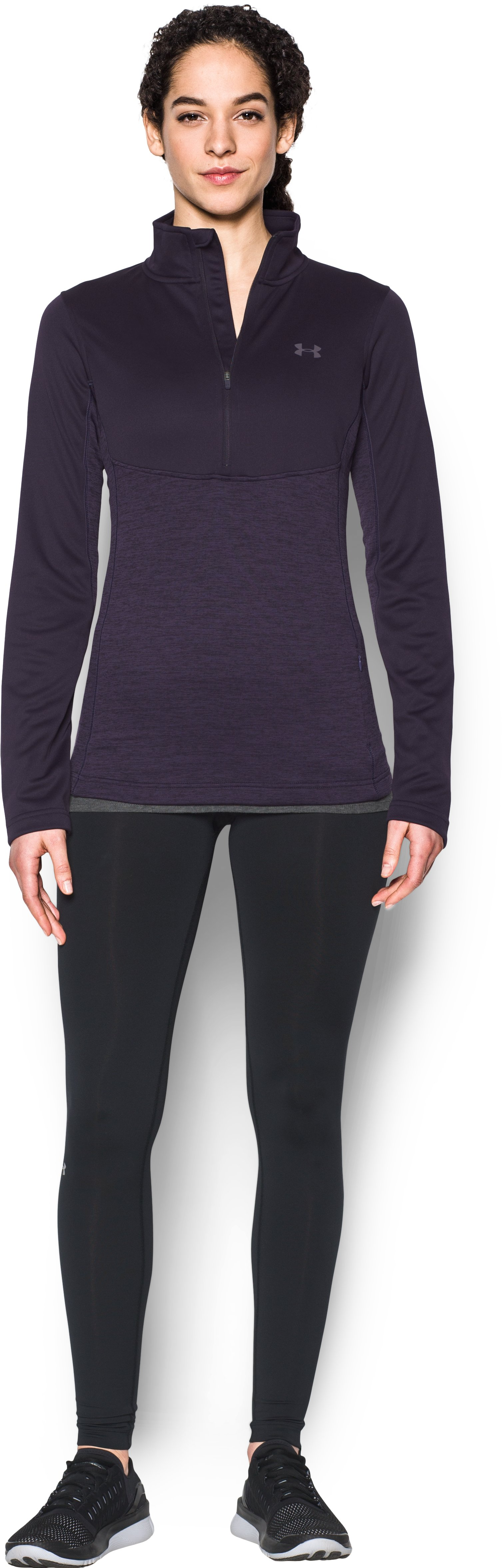 Women's UA Gamutlite 1/2 Zip, IMPERIAL PURPLE, Front