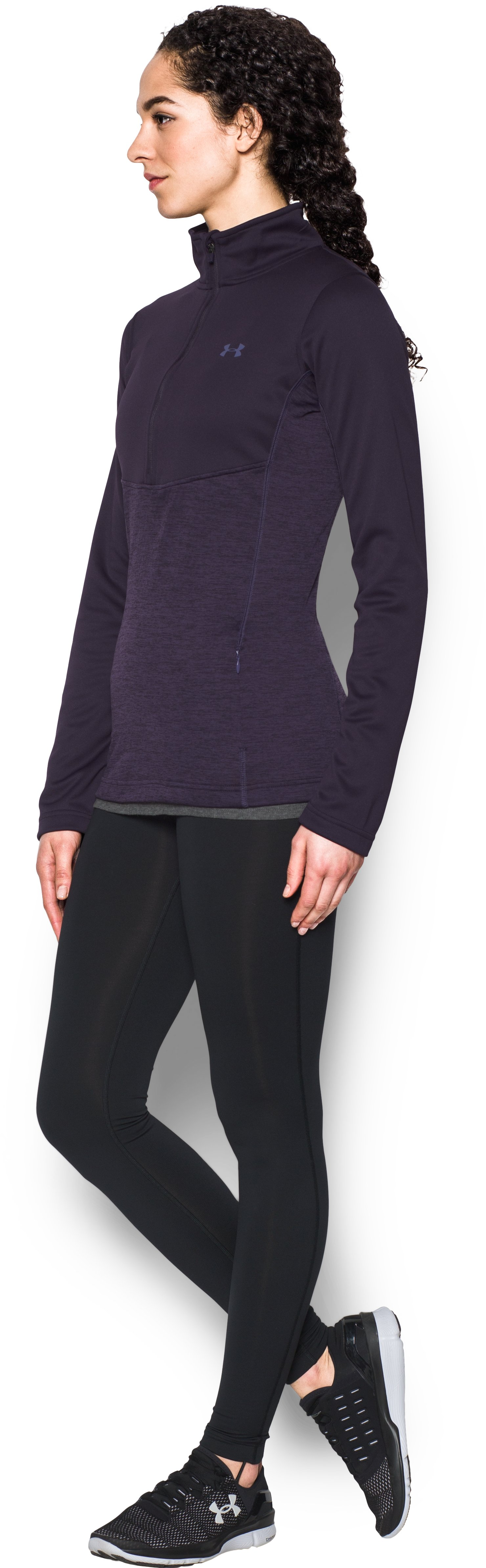 Women's UA Gamutlite 1/2 Zip, IMPERIAL PURPLE, undefined